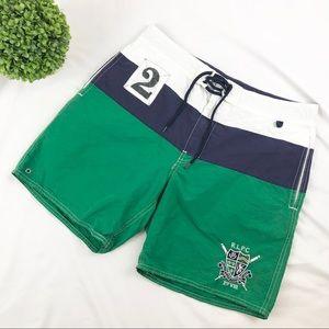 Polo Ralph Lauren colorblock crest swim trunks